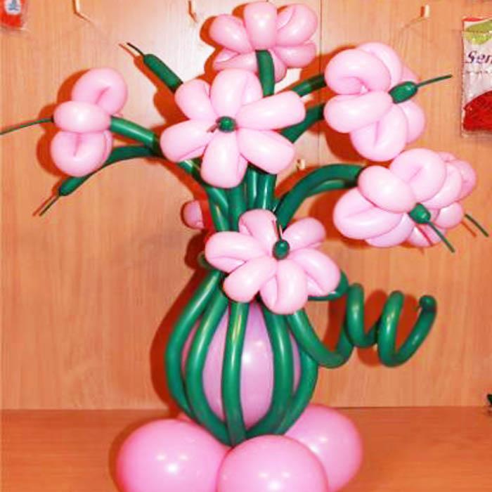 Как сделать большой цветок из шариков своими руками